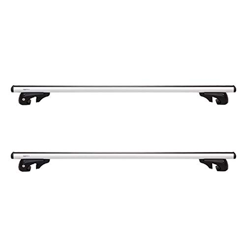 Amazon Basics 2-Piece Universal Cross Rail Roof Rack, 52 inches