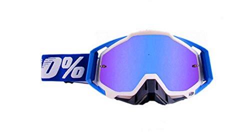 Carolilly Lunette de Moto Cross Mototourisme Lunettes Goggle Lunettes de Ski d 'Anti-poussière d'anti-buée Coupe-Vent pour Activités Extérieures (H, OneSize)