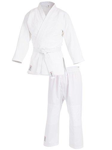 Ultrasport Judoanzug mit Weißem Gürtel, Weiß, 150, 10586