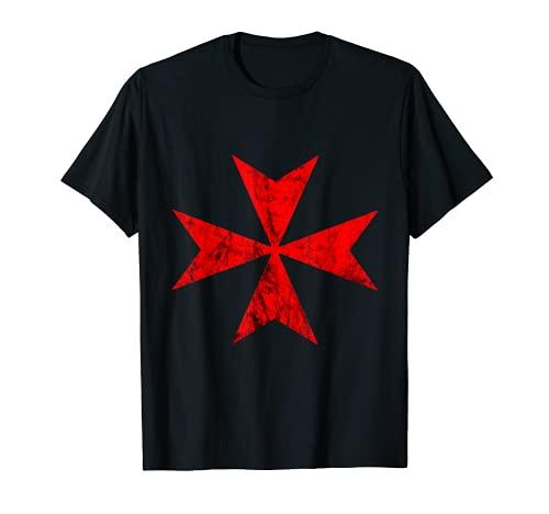 Franc-maçon Chevaliers Hospitaller Croix de Malte Crusader Templier T-Shirt