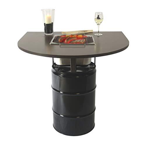 """Rogge´s RelaxGrill Balkon-Grilltisch """"Balcony"""" mit integriertem Edelstahlgrill – gemeinsam Essen am Holzkohlegrill, wie beim Raclette oder Fondue mit Freunden oder der ganzen Familie"""