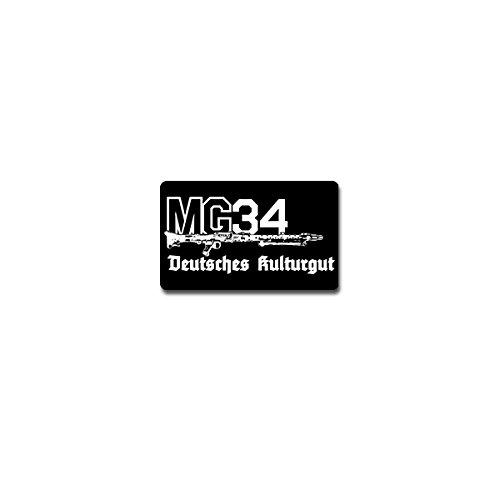 Copytec Aufkleber Sticker - MG34 Deutsches Kulturgut Maschinengewehr Waffe 11x7cm #A4202