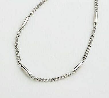 Super Chain Stainless Steel Magnetic Therapy Necklace, 20 Inch, Silver