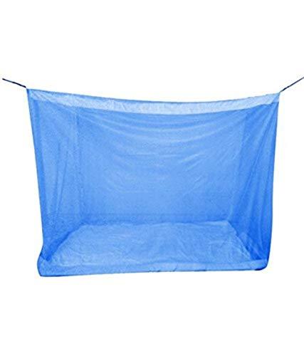 Shahji Creation Sahji Creation Best Quality Single Bed Blue Mosquito Net 4X6.5 Feet