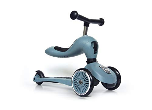 Scoot & Ride Highwaykick 1 - Steel - Scooter mit sitz