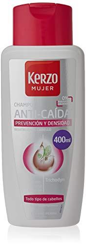 Kerzo - Champú Anticaída Especial Mujer - Prevención y Densidad, para Todo Tipo de Cabello, Blanco, 400 Mililitros
