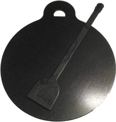 TVK Traders Pre Seasoned Iron Dosa Tawa with Dosa Turner, 10-inch and Oil Spreader (Black)