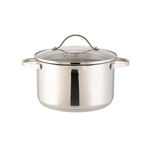 Axentia Stainless Steel Pado-Pasta Pan with Strainer Lid 3 Liter Pot, Silver, 24.8 x 21.8 x 17 cm