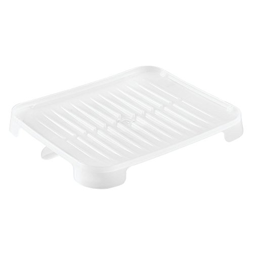iDesign verstelbare afvoerplaat met draaibare uitloop voor keukenblad, kunststof, vorst