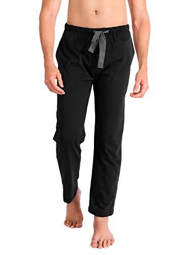 Conjunto de pijama para hombre, parte inferior, algodón de