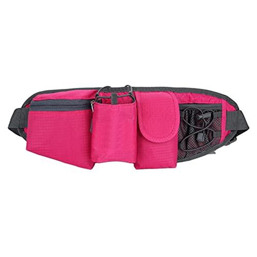 Faderr - Marsupio da corsa, impermeabile, per ciclismo, jogging, per viaggi, vacanze, campeggio, fascia regolabile, leggero, per corsa, sport all'aria aperta (rosso)