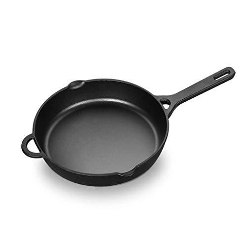 SHYOD Entlegene Gegenden Gusseisenpfanne, Pre-Seasoned for Non-Stick Wie Oberfläche, Kochgeschirr Backofen Broiler Grill Safe, Küche Friteuse, Restaurant Chef Qualität