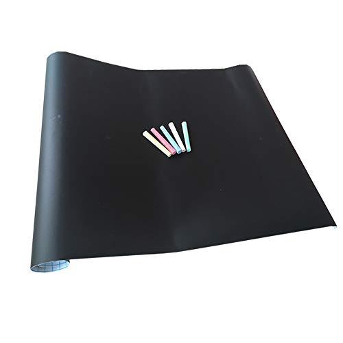 Selbstklebende Tafelfolie 300 x 45 cm | Kreidetafel | 5 Stück Bunte Kreide Gratis