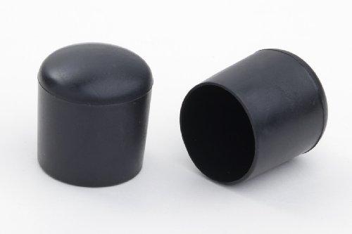 4 Stück Stuhlbeinkappe Stuhlbeinschutz Bodenschutz Stuhlschoner Kunststoff schwarz Durchmesser 22mm, für alle Böden im Innen- und Aussenbereich