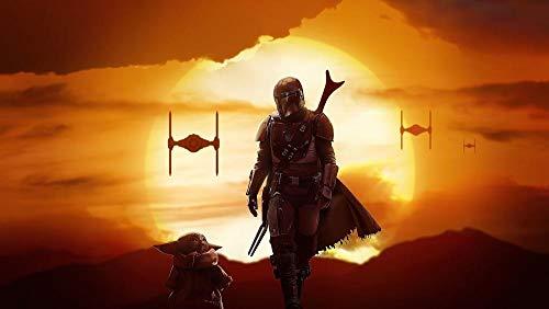 199Tdfc Puzzle Erwachsene Holz Puzzle 1000 Teile - Star Wars: Der Mandalorianer-Yoda-R654 Erwachsene, Kinder, Ältere Freizeitspielzeuge,75X50CM