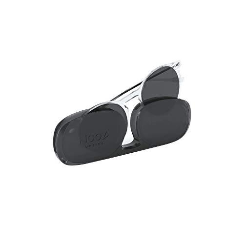 NOOZ Occhiali da sole polarizzati per uomo e donna - Protezione di categoria 3 - Colore cristallo - con custodia compatta - Collezione CRUZ