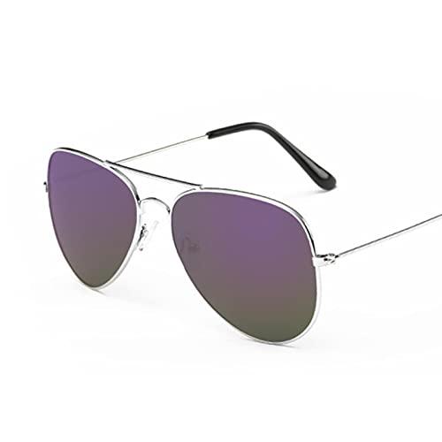 Gafas De Sol Gafas De Sol De Aviación De Lujo A La Moda para Mujer, Gafas De Sol De Diseñador para Mujer, Gafas De Sol para Mujer, Plateado, Púrpura