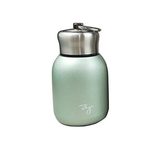 ALYHYB Scrub vacío portátil Señora Copa de Acero Inoxidable termos Taza de café de Leche té Viaje Taza Termo Botella, Verde huangcui (Color : Green)