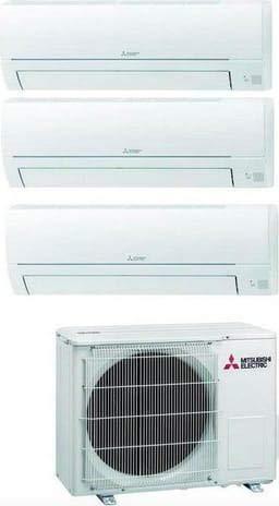 Climatizzatore Trial Split 9000 + 9000 + 12000 Btu, Inverter, Classe A++/A Serie MSZ-HR
