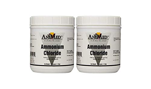 AniMed Powder 99.9% Ammonium Chloride-2 Pack for Horses Dogs Cats Cows Sheep and Goats 2.5-Pound Each 5lb Total