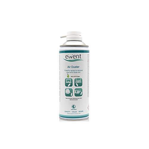 Ewent EW5605 - Spray de aire comprimido, 400 ml con aroma a manzana dulce. esencia de manzana aire comprimido perfumado