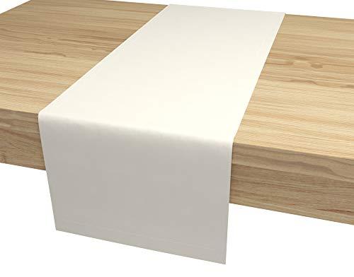 Aloha Tischläufer Tischband für Esstisch für Hochzeit hochwertiger Tischdekoration Farbe und Größe wählbar (Pergament/rechteckig / 40cm x 120cm)