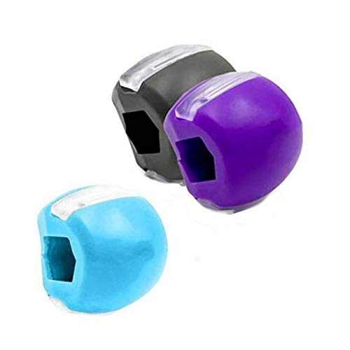 Jawline Trainer und Kiefer Training, 3 x Jaw Trainer Gesichtsstraffer Jaw Exerciser Gesicht Schlankere Übung Mund, Anti-Falten, Anti-Aging Gesichts-Muskel-Spanner Definieren Sie Ihre Kieferlinie