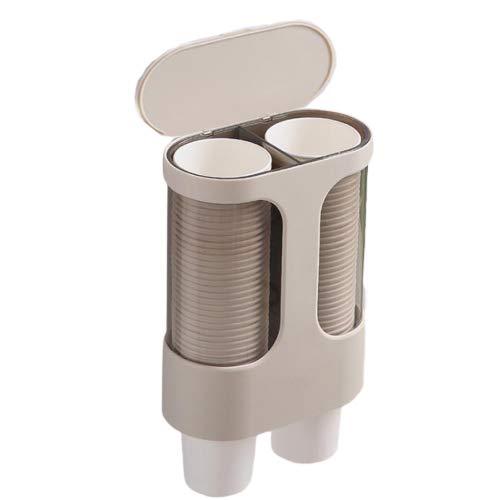 Dispensador de vasos de papel desechables,Práctico portavasos de papel,Portavasos de papel dispensador de agua,Resistente al agua y al polvo,Diseño de pared