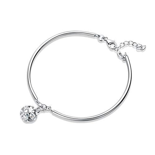 Xiaojie S925 pulsera de plata esterlina mano mujer joyería red red versión coreana de la personalidad simple salvaje