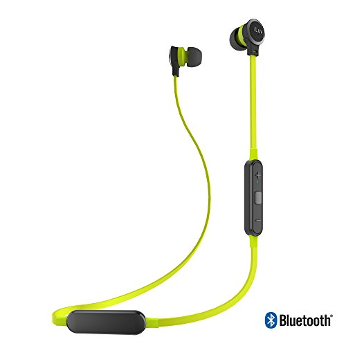 iLuv Wireless Bluetooth Tangle-Free Stereo in-Ear Earphones with Noise Isolation, Hands-Free, Voice Command, Sweatproof, Flat Cable, Rechargeable Battery and Remote (2nd Generation)