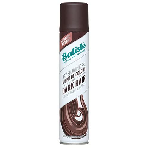 Batiste Dry Shampoo in Divine Dark with a Hint of Colour, Designed for Brunettes, No Rinse Spray to Refresh Hair in Between Washes, No White Residue for Dark Hair – 200ml