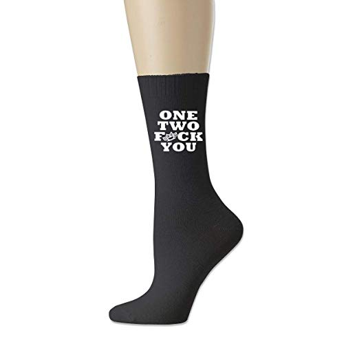 KLING One Two Fuck You Unisex Casual Soft Crew Calcetines Sport Training Calcetines deportivos Algodón