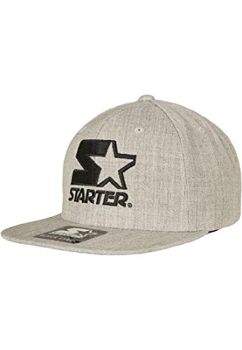 STARTER BLACK LABEL Unisex-Adult Starter Logo Snapback Baseball Cap, Grey, one Size