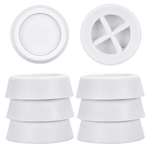 FAVENGO 8 Stück Vibrationsdämpfer Universal Schwingungsdämpfer Waschmaschine Gummi Weiß Antivibrationsmatte Waschmaschine Gummifüße Rutschfest Waschmaschinenzubehör für Kühlschränken Wäschetrocknern