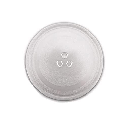 YooSz Placa De Vidrio De Microondas Compatible con Bandeja De Microondas/De Microondas Reemplazo De Placa De Placa Giratoria De Vidrio, Diámetro 245/270 / 315mm Bandeja De Vidrio