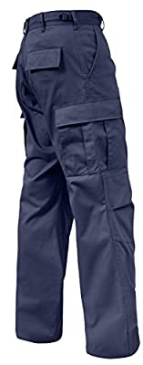 Rothco Relaxed Fit Zipper Fly BDU Pants, Navy Blue, XL