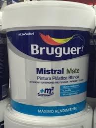BRUGUER Pintura PLÁSTICA EXT-INT Mistral 10 L, Negro