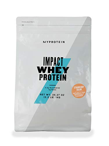 Myprotein, Impact Whey Protein Fragola Crema 1kg - 1000 g