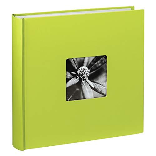 Hama Jumbo Fotoalbum Fine Art, XXL Album im Format 30x30, 100 weiße Seiten für bis zu 400 Fotos im Bildformat 10x15, Fotoalbum zum selbstgestalten, Fotobuch mit Ausschnitt für Bildeinschub, grün