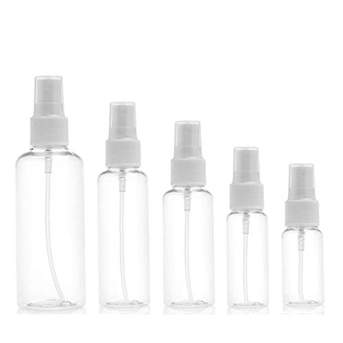 AllRing Frascos de Spray, Transparente Botella de Spray Plástico Blanco Botes Botella de Pulverizacion Vacíos para Perfume Chanmpú Botella Cosmetica para Accesorios de Viaje (1 Pieza,50ml)