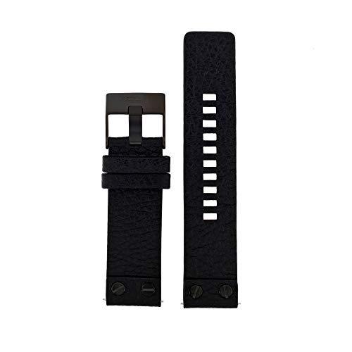 Diesel Uhrenarmband DZ1793 Leder Schwarz 24mm (NUR UHRENARMBAND - UR Nicht INBEGRIFFEN!)
