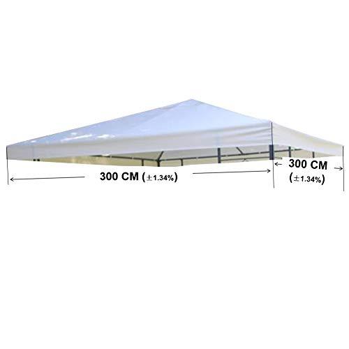 TOAKS Carpa para Techo 3x 3m/3x 4m Resistente al Agua Verde/Beige Carpa...
