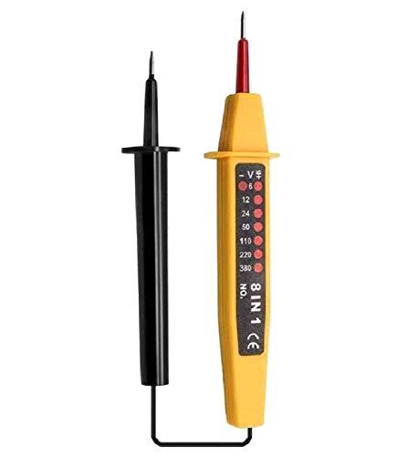 BeiLan Detector de Voltaje,8 en 1 6–380 V lápiz Detector de 760 mm 8 rangos eléctrica localizar Defectos