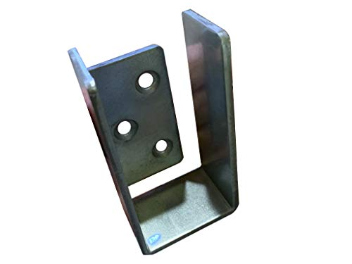 2x4 Bar Holder End Cap Bracket for Door Barricade, Shed, Barn, Gate - Compact, Galvanized
