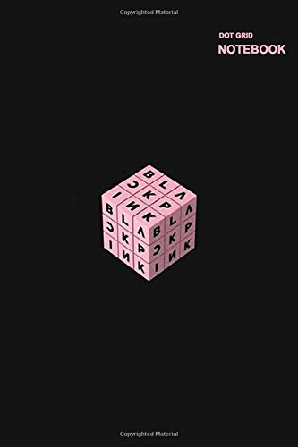 Dotted grid notebook/journal soft cover: Notebook Dotted Grid, 110 Pages, Softcover (6x9 inches), Blackpink Rubik Design Cover.