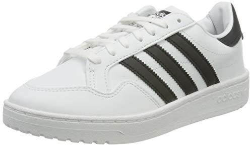 adidas Originals Team Court, Scarpe da Ginnastica, Blanc Noir Blanc, 35.5 EU