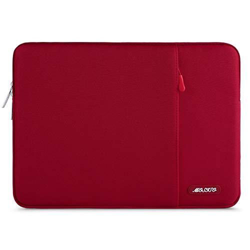 MOSISO Laptop Sleeve Borsa Compatibile con MacBook PRO Air 13 Pollici, 13-13,3 Pollici Notebook Computer, Poliestere Manica Verticale con Tasca, Rosso