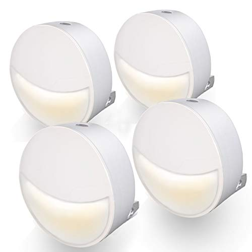 UTLK LED Night Light Plug in with Dusk to Dawn Sensor [4 Pack],[ No Dazzling ][ Eye-Protection]Wall Lamps Plug in NightLight for Kids Adults