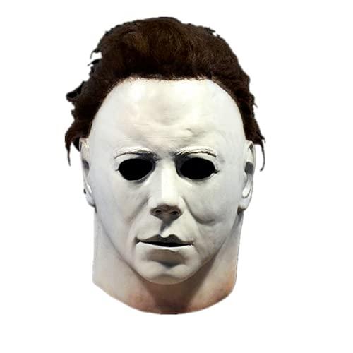 LDJ Michael Myers Maske Horror Film Cosplay Maske Latex Maske, Unisex, Einheitsgröße, Perfekt Für Fasching, Karneval, Halloween