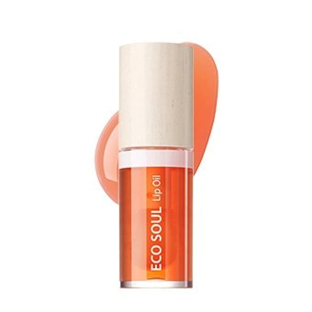 イタリック戦略密接にthe SAEM Eco Soul Lip Oil 6ml/ザセム エコ ソウル リップ オイル 6ml (#03 Grapefruit) [並行輸入品]